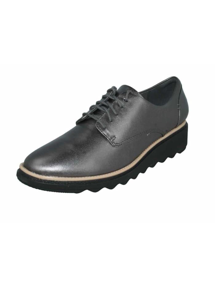 Clarks Damen Schnürschuh in grau, grau