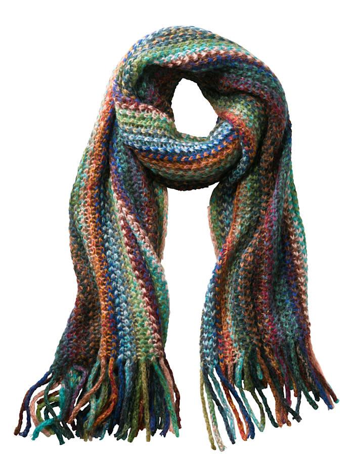 Janet & Joyce Sjaal met franjes, multicolor
