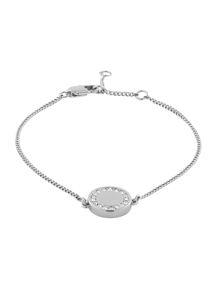 Buckley Armband Messing Kristall 19cm Glänzend, weiß
