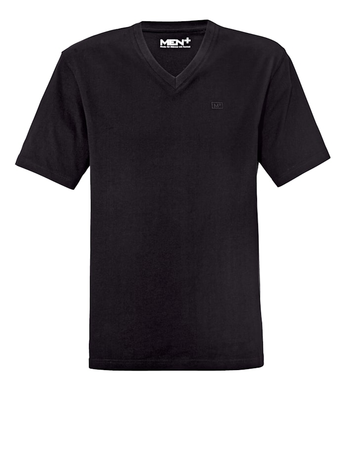 Men Plus V-Shirt ein Must-have, Schwarz