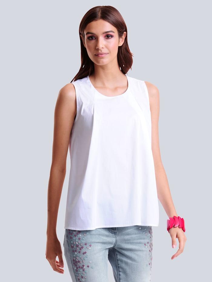 Alba Moda Blusentop aus sehr elastischer Qualität, Weiß