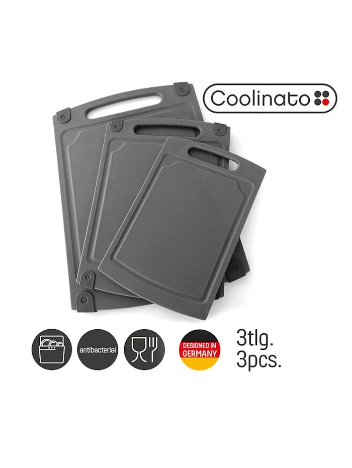 Coolinato Set van 3 snijplanken, grijs