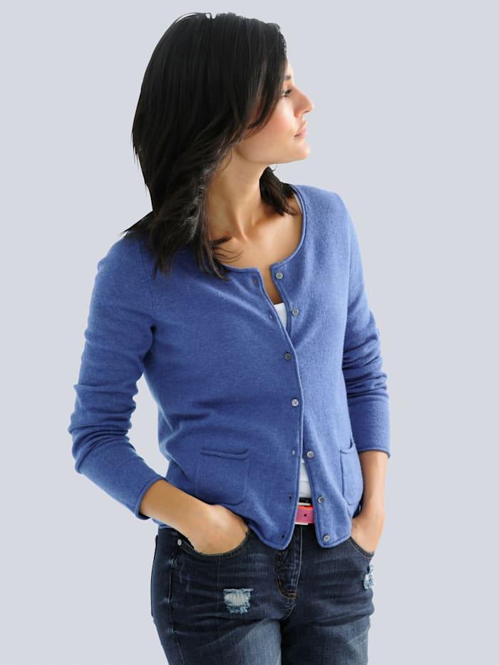 Alba Moda Strickjacke aus reinem Kaschmir, Blau