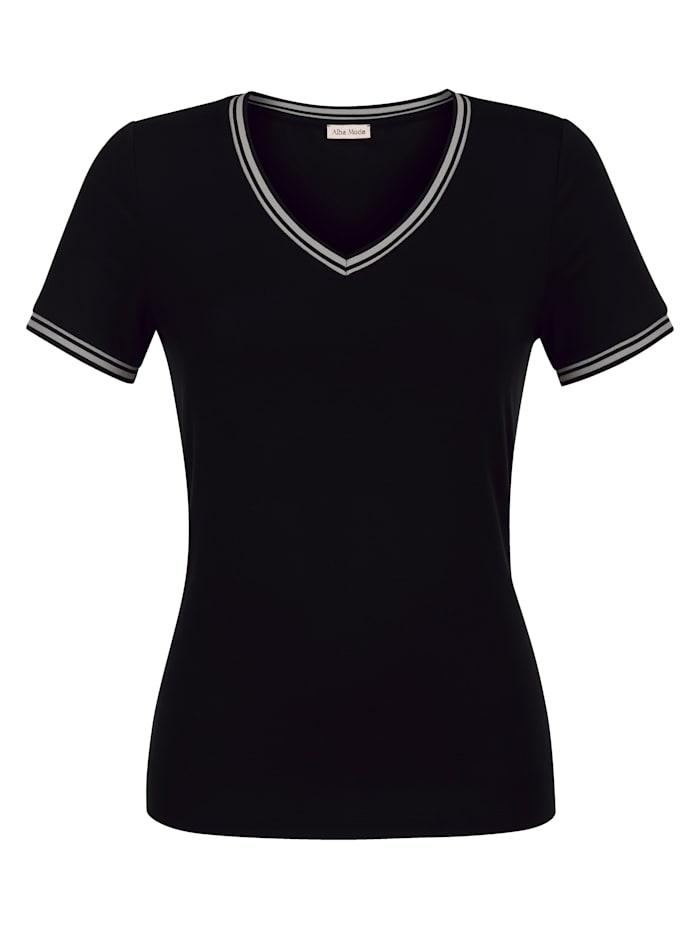 Alba Moda Shirt aus sehr softer Qualität, Schwarz/Taupe