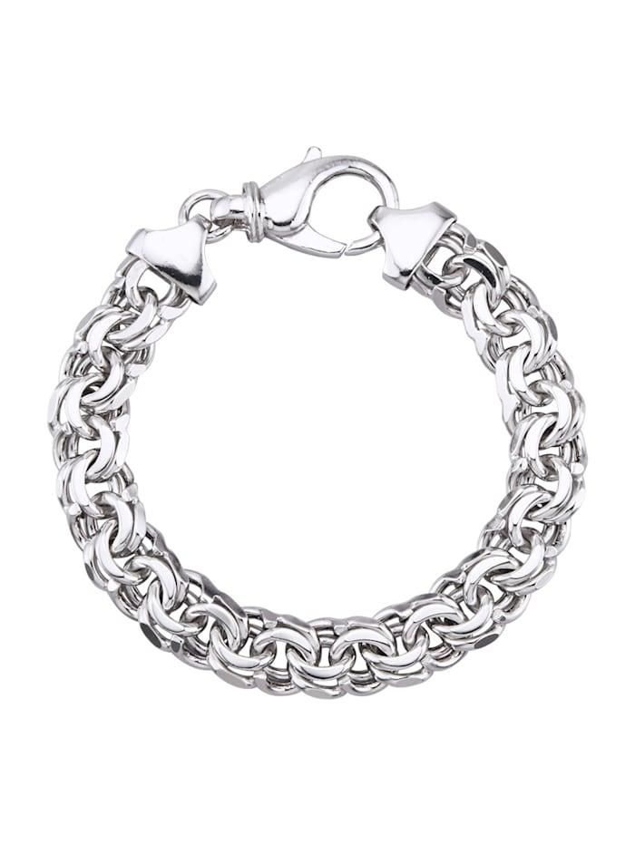 Garibaldi armband van echt zilver, Zilverkleur