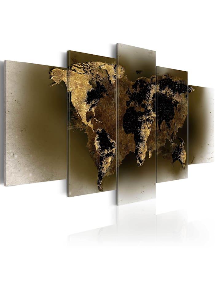 artgeist Wandbild Brass continents, Braun,Creme
