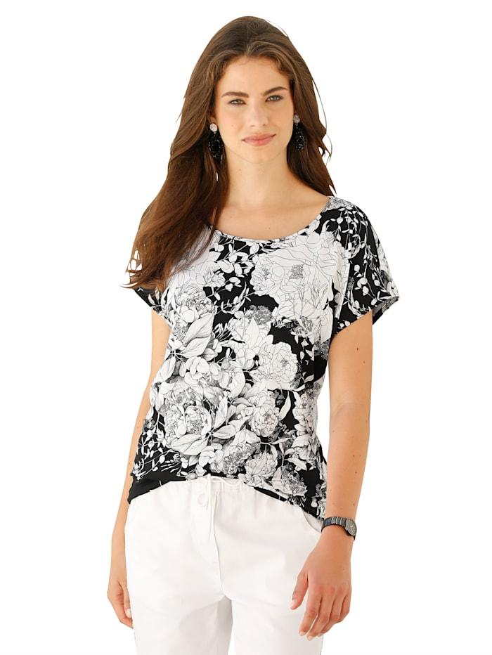 Shirt im Allover-Blütendruck