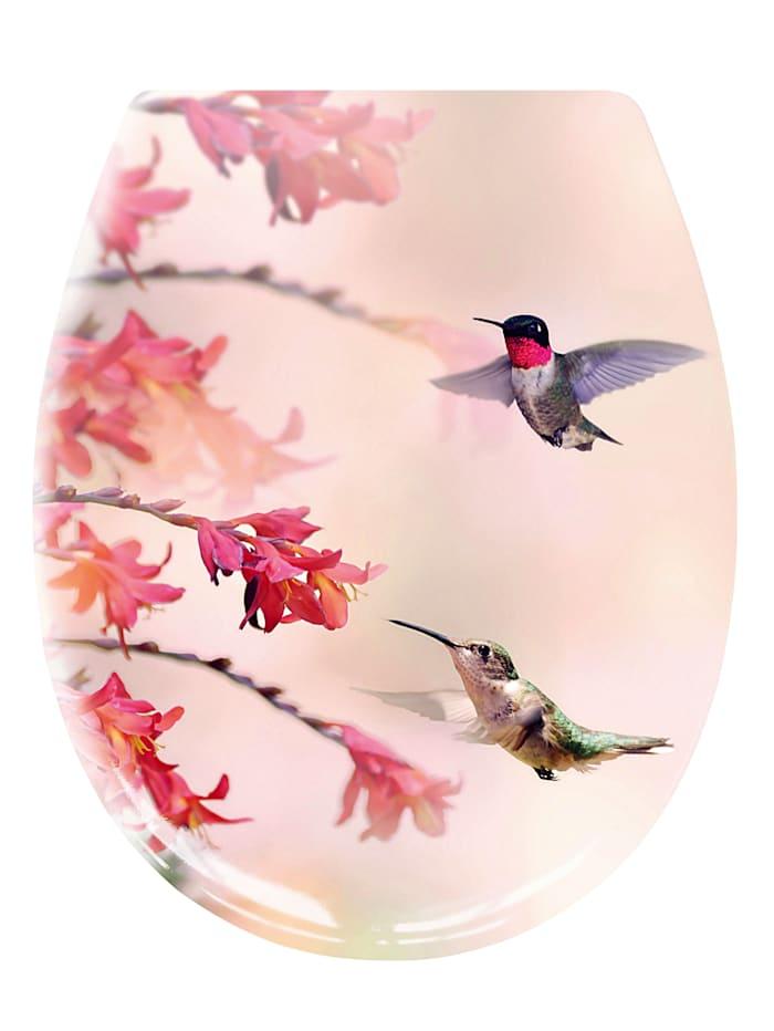 Kleine Wolke Toalett-sete -Kolibri-, Multicolor