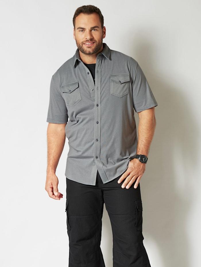 Men Plus Overhemd van sneldrogend materiaal, Grijs