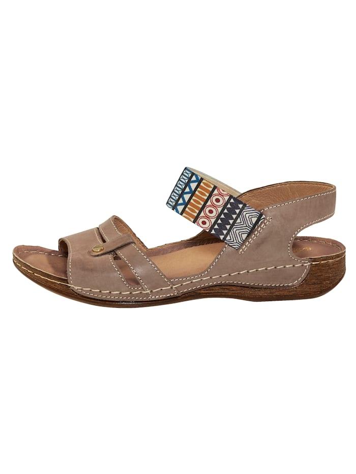 Sandalette mit elastischem Band