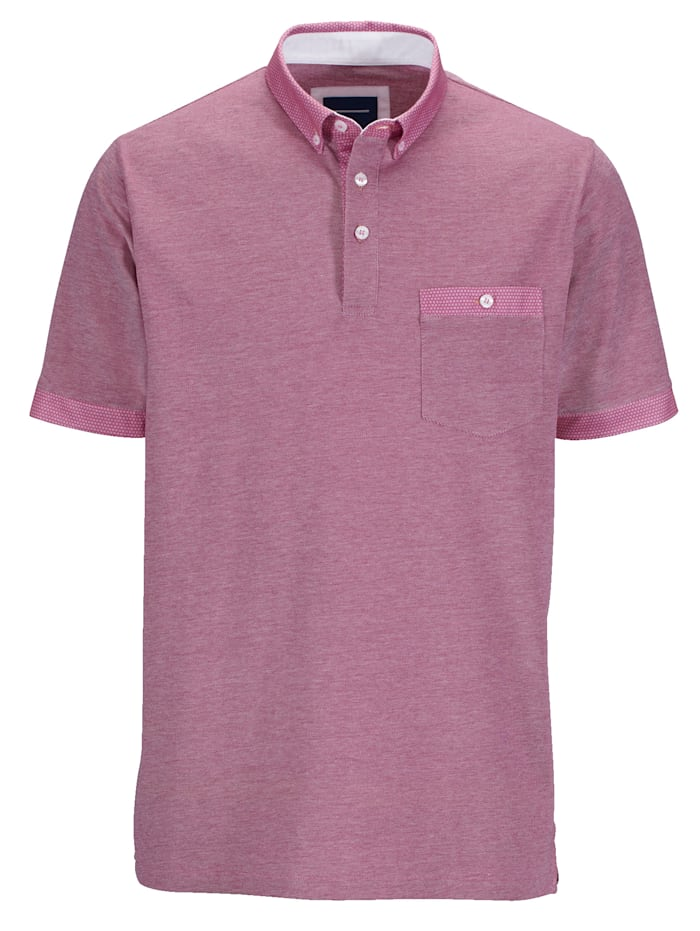 BABISTA Poloshirt in bicolor look, Roze
