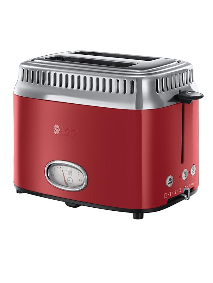 Russell Hobbs Kompakt Toaster mit Retro Contdown Anzeige, rot