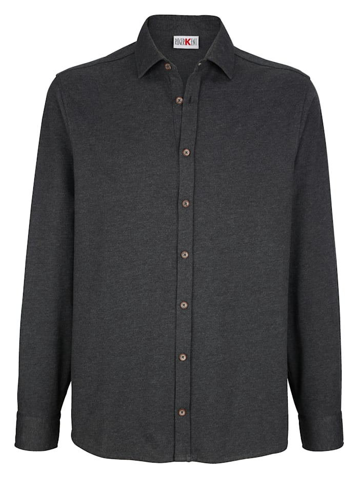 Roger Kent Overhemd met doorknoopsluiting, Antraciet