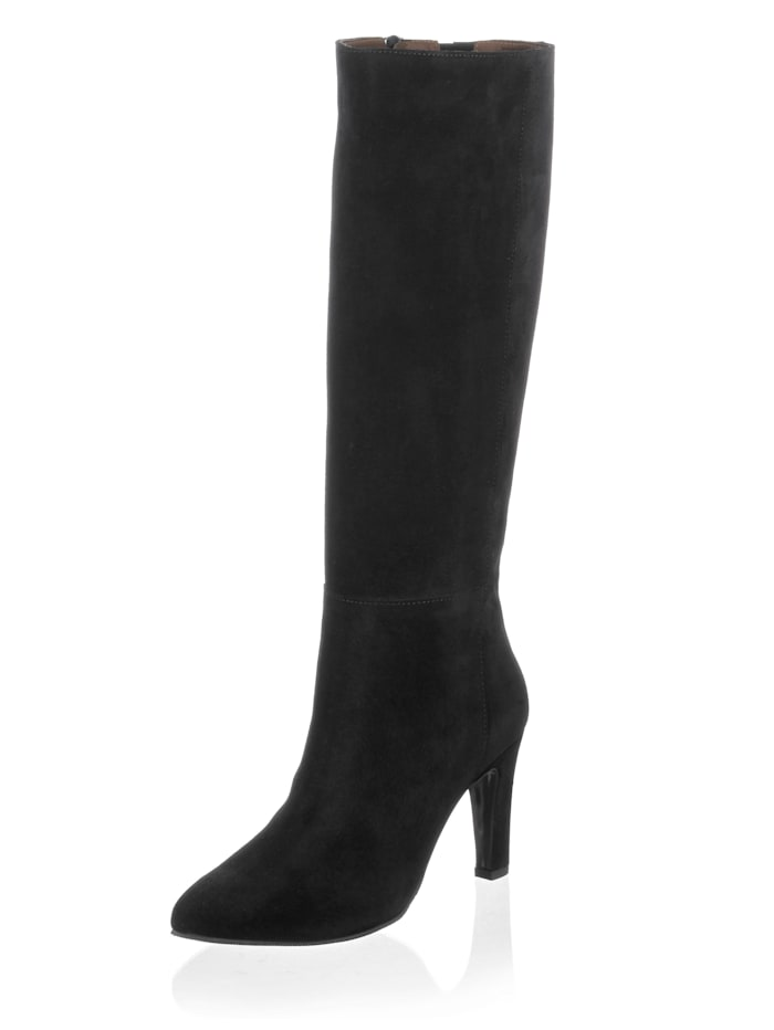 Alba Moda Stiefel in schlichter Form, Schwarz