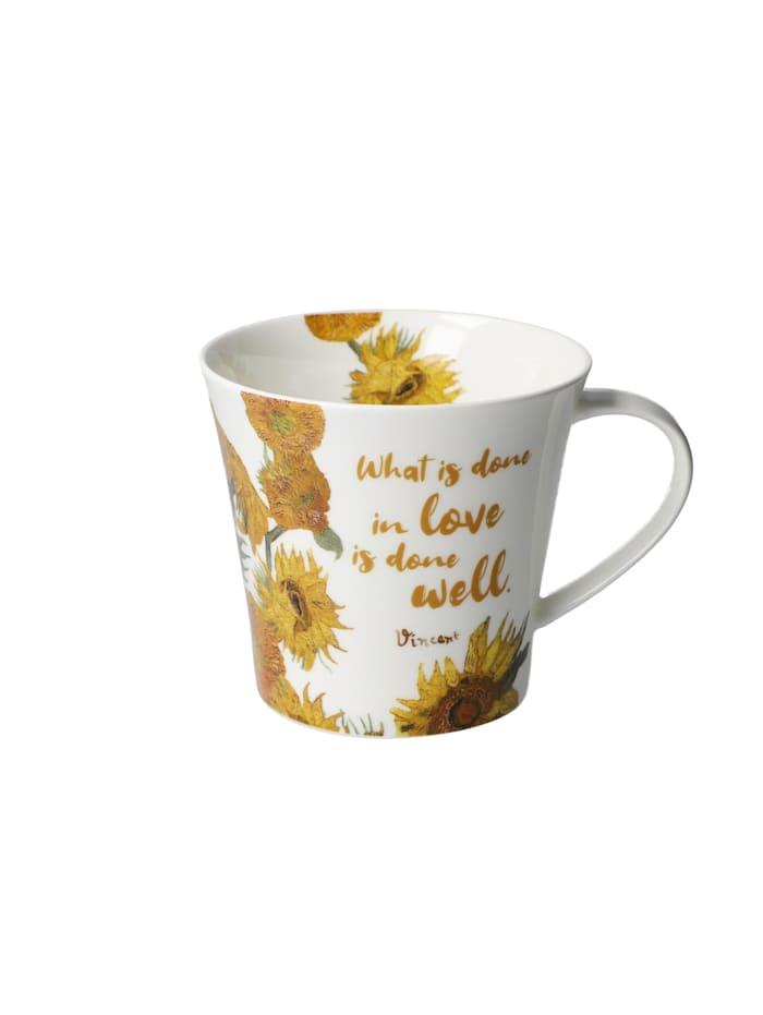 "Goebel Goebel Coffee-/Tea Mug Vincent v. Gogh - ""What is done..."", Bunt"