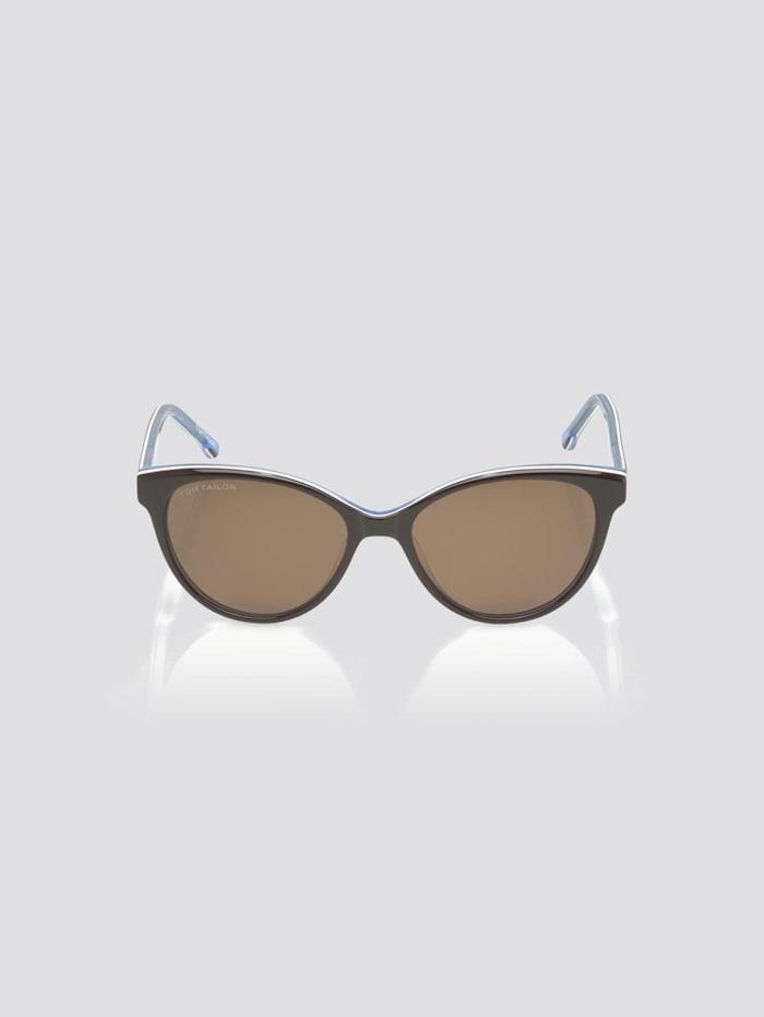 Tom Tailor Cat Eye Unisex-Kindersonnenbrille, brown-white-blue