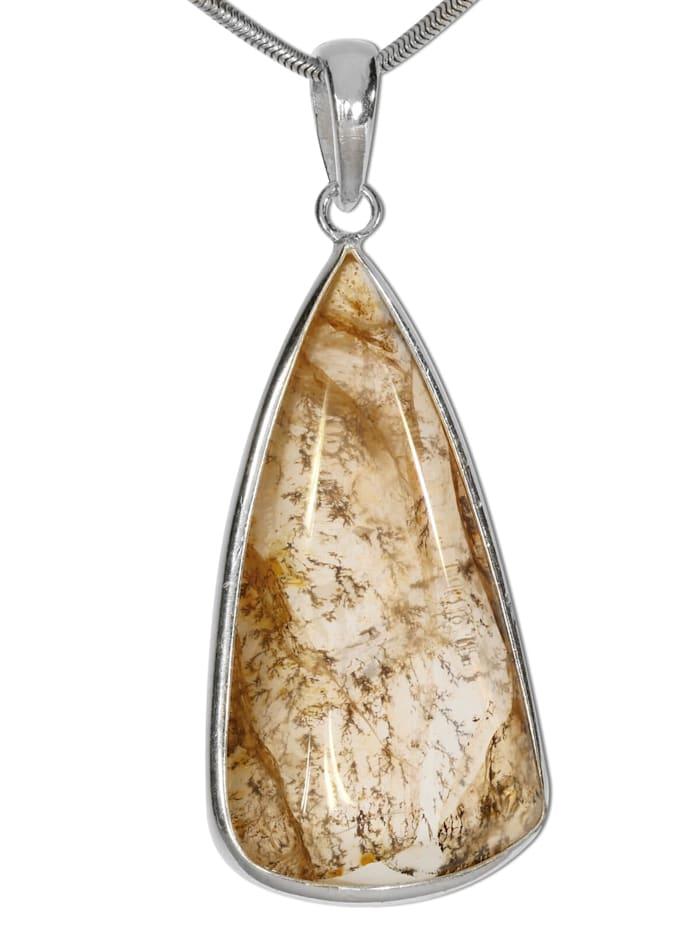 1001 Diamonds Dendritenquarz Anhänger 925 Silber, bunt