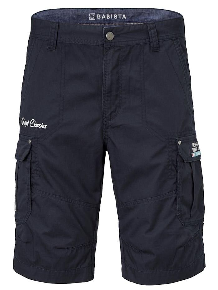 BABISTA Shorts med benfickor, Marinblå
