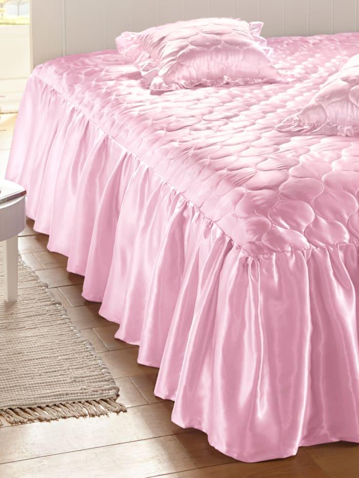 Webschatz Bettüberwurf 'Gloria', rosa