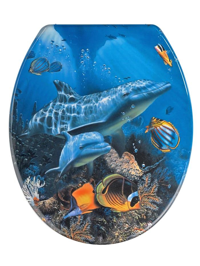 Wenko WC-Sitz 'Delphin', Multicolor