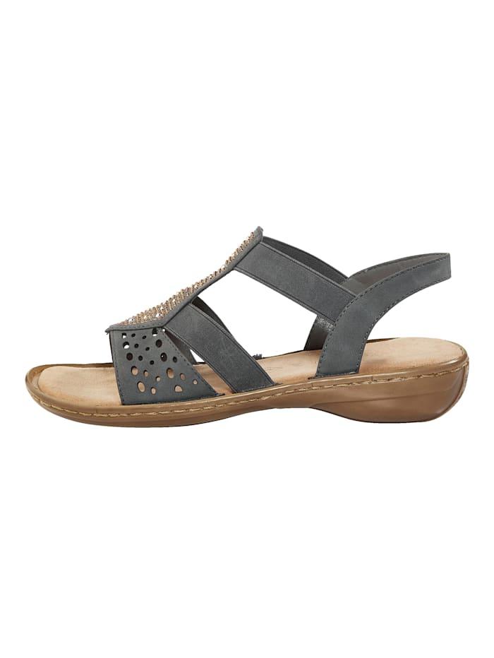 Sandalette mit schöner Glitzer-Applikation