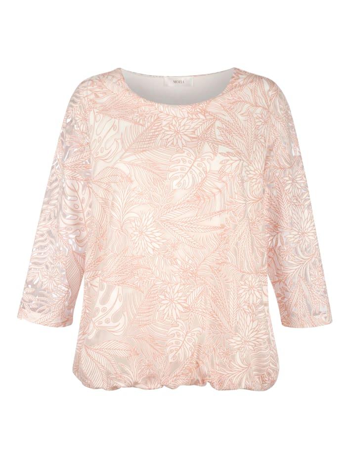 Shirt in floraler Ausbrenner-Qualität