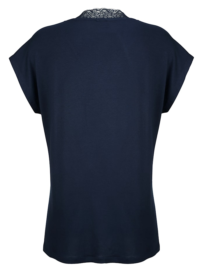 Top with an elegant lace trim