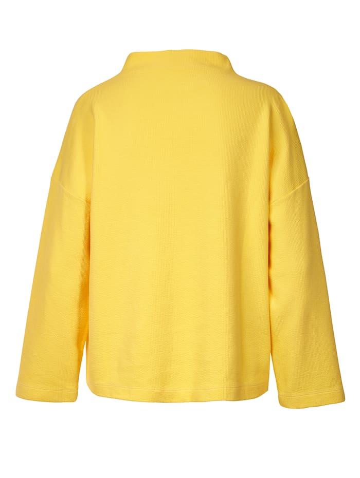 Sweatshirt mit Stehkragen und Struktur
