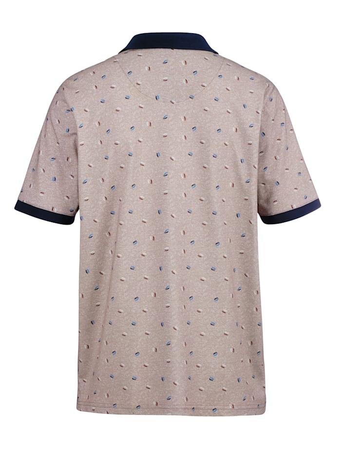 Poloshirt mit gleichmäßigem Druckmuster