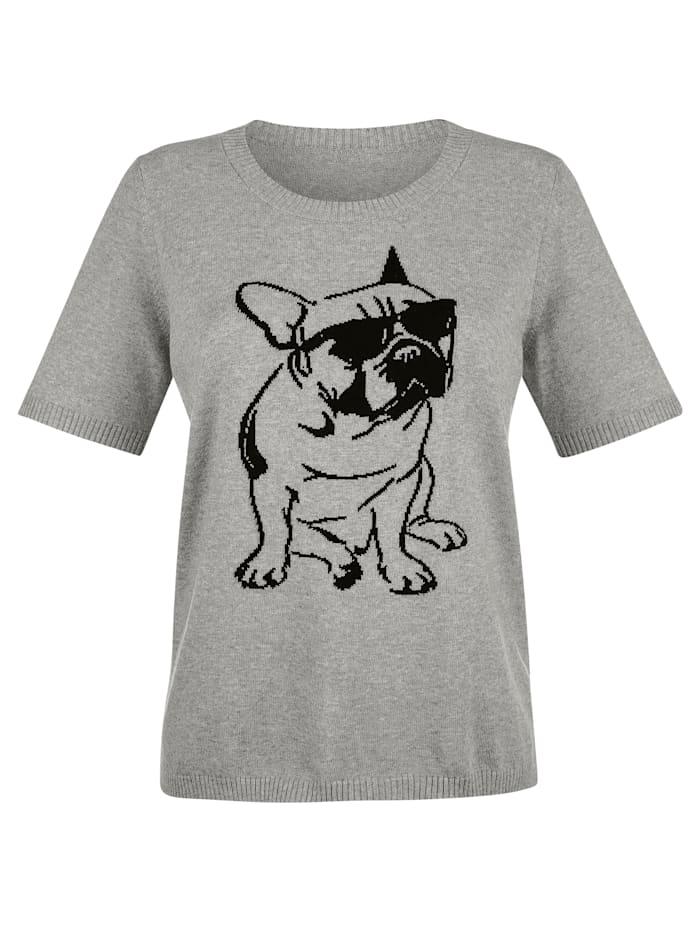 Pullover mit Hunde-Motiv im Vorderteil