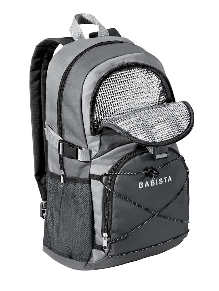BABISTA Sac à dos de randonnée avec compartiment isotherme, Gris