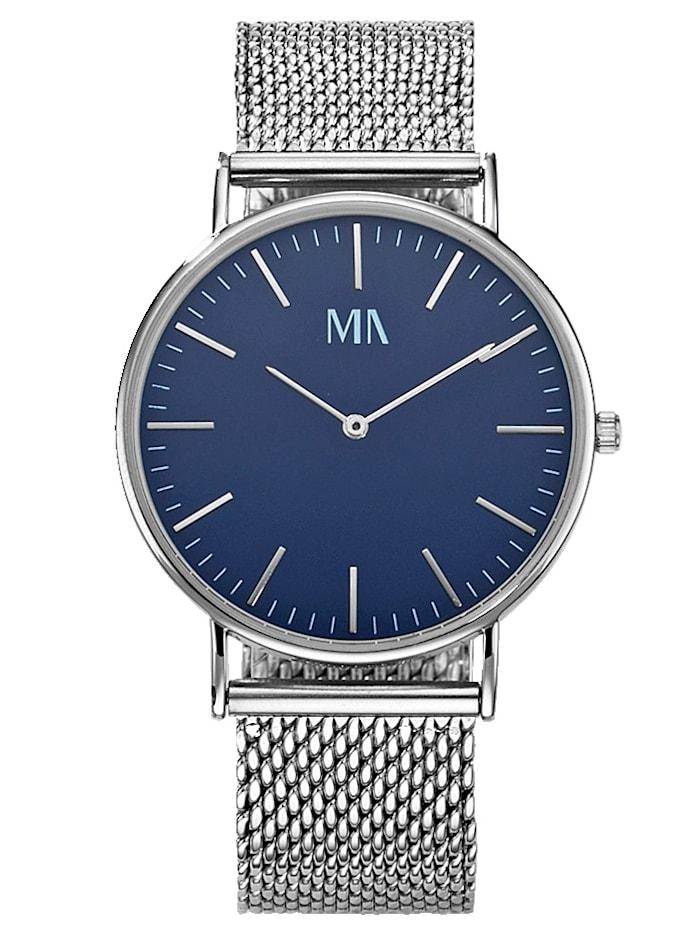 Meister Anker Pánské hodinky Quartz, Stříbrná