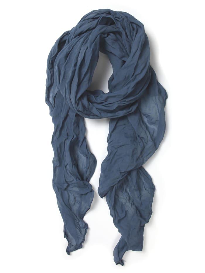 Collezione Alessandro Italienischer Schal Uni Made in Italy, marine