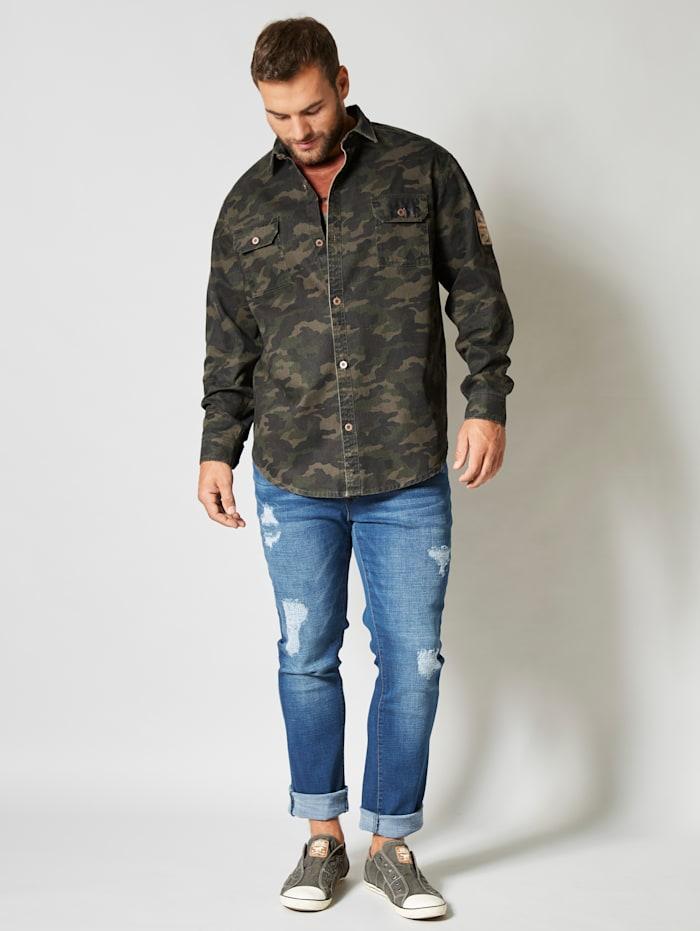 Hemdjacke aus reiner Baumwolle