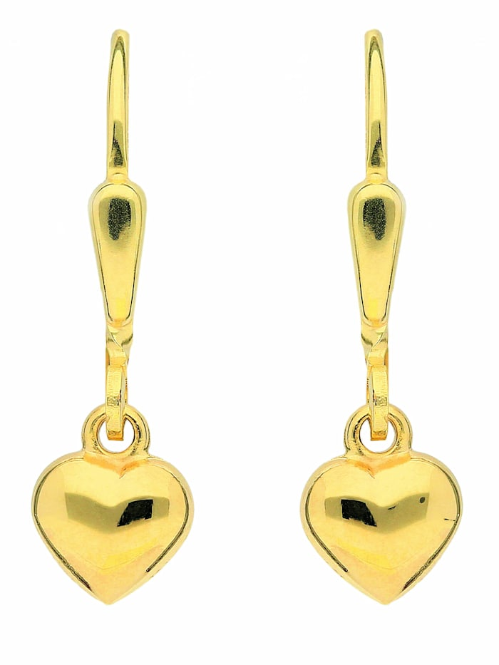 1001 Diamonds 1001 Diamonds Damen Goldschmuck 333 Gold Ohrringe / Ohrhänger Herz, gold