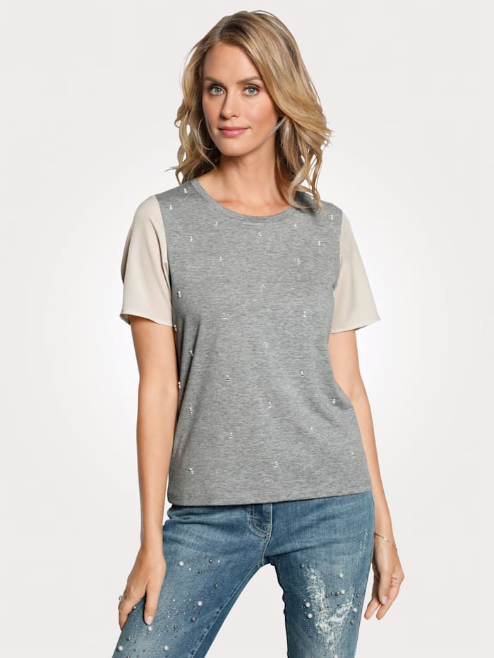 T-shirt à strass fantaisie