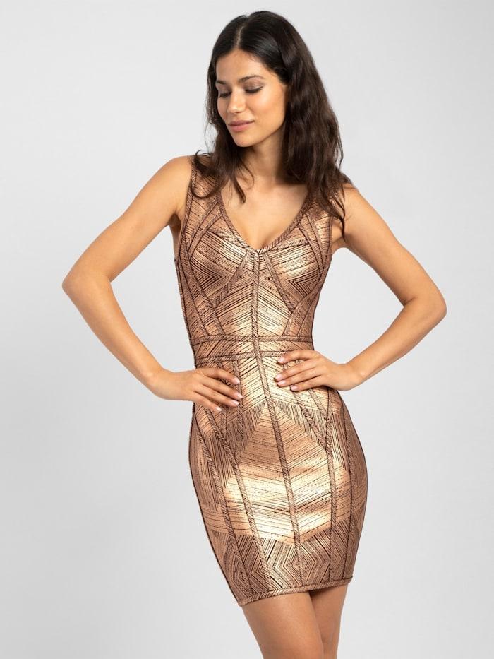 APART Jerseykleid eng anliegend geschnitten, bronze