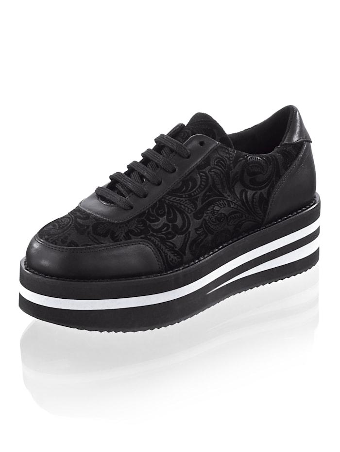 Alba Moda Sneaker mit durchgehender Sohle, Schwarz