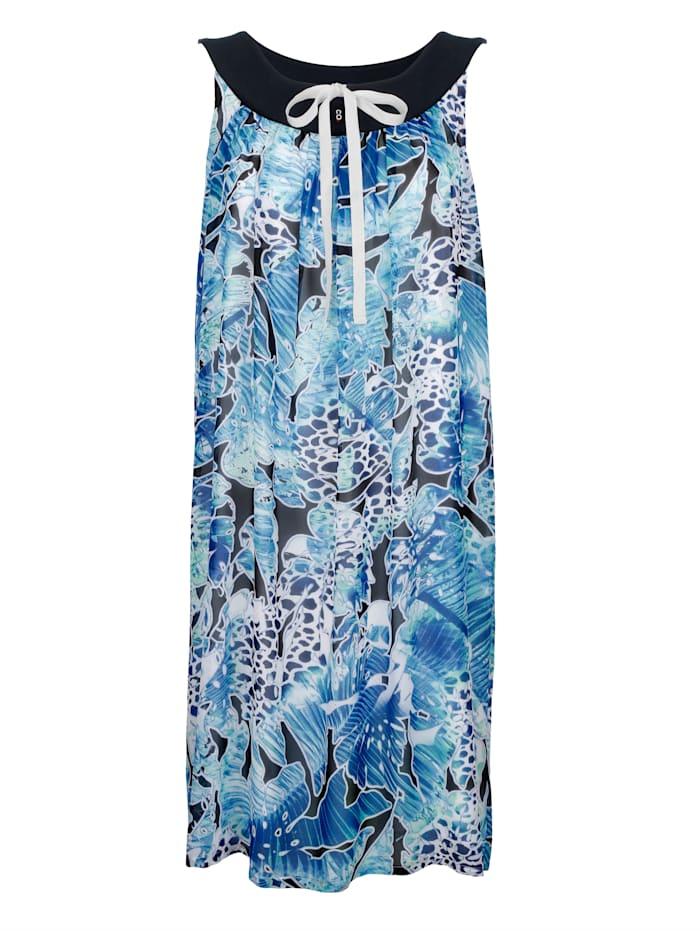 Comodo Strandkleid in attraktivem Mustermix, blau