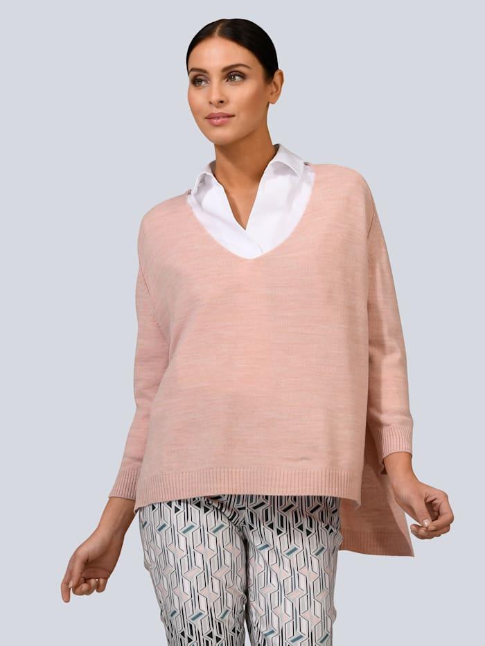 Alba Moda Pullover in modischer Boxy-Form, Rosé