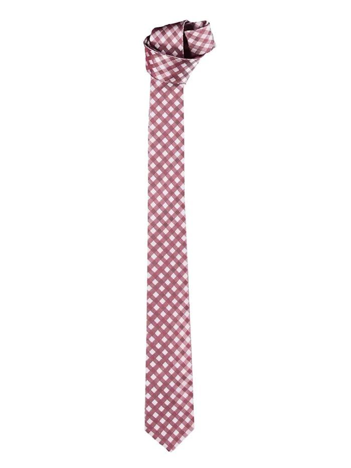 Engbers Krawatte mit stilvoller Karomusterung, Feuerrot