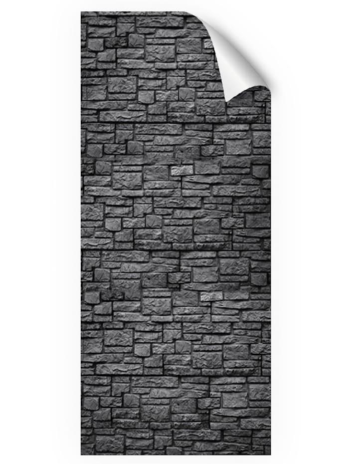mySPOTTI Duschrückwand-Folie, schwarz