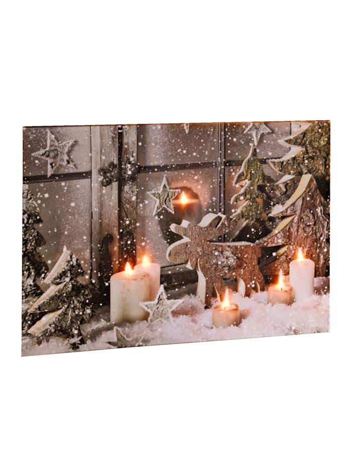 Heitronic LED obraz Vianoce, Pestrá