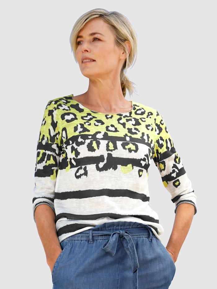 Dress In Shirt met moderne dessinmix, Offwhite