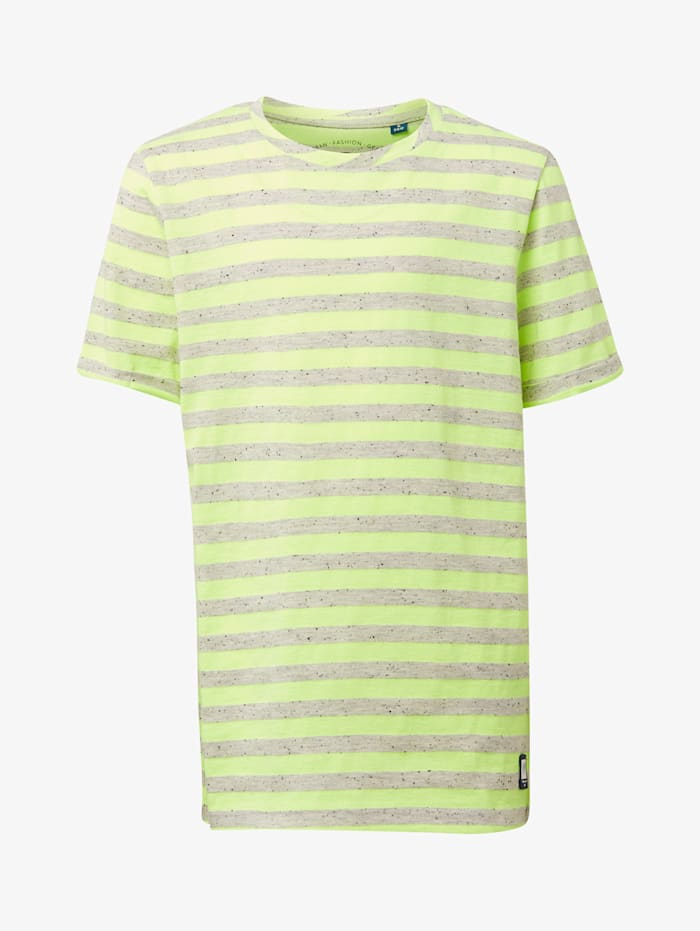 Tom Tailor Gestreiftes T-Shirt, drizzle melange gray