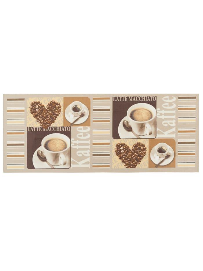Pergamon Küchenläufer Teppich Trendy Kaffee Heart, Beige