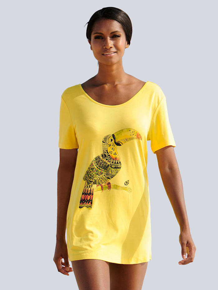 Alba Moda Shirt mit Druckmotiv, Gelb
