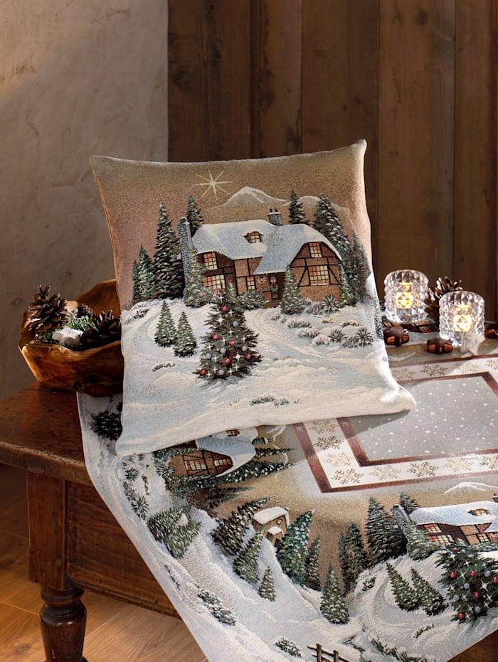 Hossner Kissenhülle 'Winterlandschaft', Multicolor