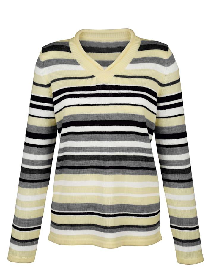 Pullover mit Rollkante am V-Ausschnitt