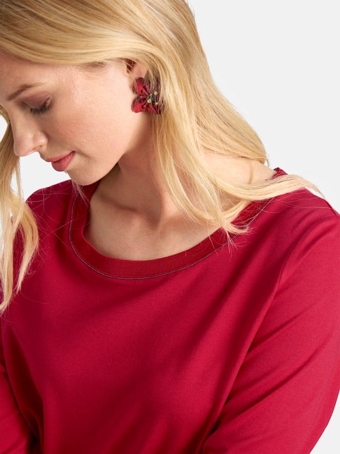 Shirt mit Rundhalsausschnitt und Zierperlen